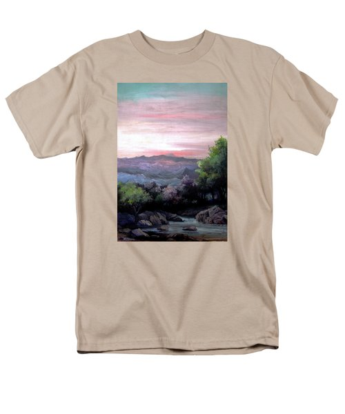 Men's T-Shirt  (Regular Fit) featuring the painting Twilight by Mikhail Savchenko