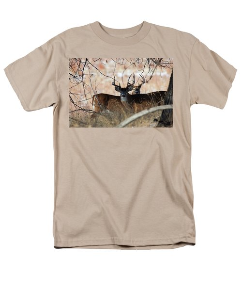 Men's T-Shirt  (Regular Fit) featuring the photograph Two In The Bush by Jim Garrison