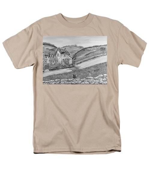 Men's T-Shirt  (Regular Fit) featuring the painting Un Pomeriggio D'estate by Loredana Messina
