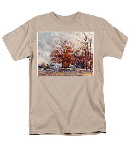 Men's T-Shirt  (Regular Fit) featuring the painting Up State Ny - Nyack by Walter Casaravilla