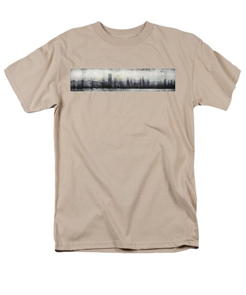 Vancouver Skyline Abstract 1 Men's T-Shirt  (Regular Fit) by Peter v Quenter