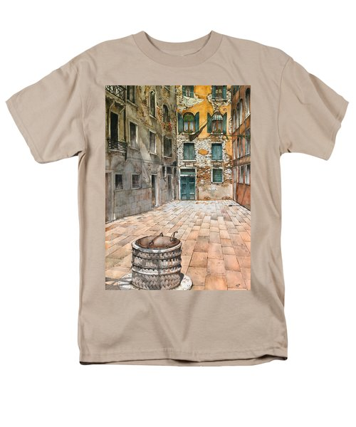 Venetian Courtyard 02 Elena Yakubovich Men's T-Shirt  (Regular Fit) by Elena Yakubovich
