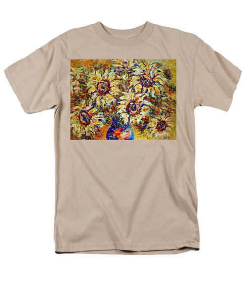 Men's T-Shirt  (Regular Fit) featuring the painting Vibrant Sunflower Essence by Natalie Holland