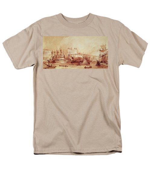 View Of The Tower Of London Men's T-Shirt  (Regular Fit) by William Parrott
