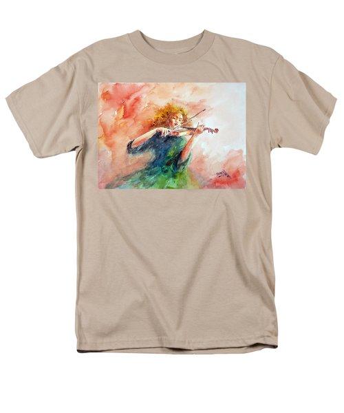 Violinist Men's T-Shirt  (Regular Fit) by Faruk Koksal