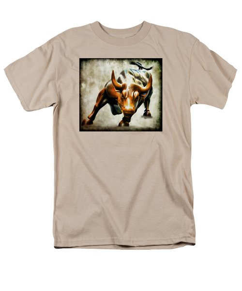 Wall Street Bull Men's T-Shirt  (Regular Fit) by Athena Mckinzie