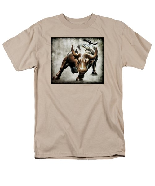 Wall Street Bull II Men's T-Shirt  (Regular Fit) by Athena Mckinzie