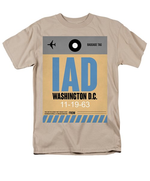 Washington D.c. Airport Poster 3 Men's T-Shirt  (Regular Fit) by Naxart Studio