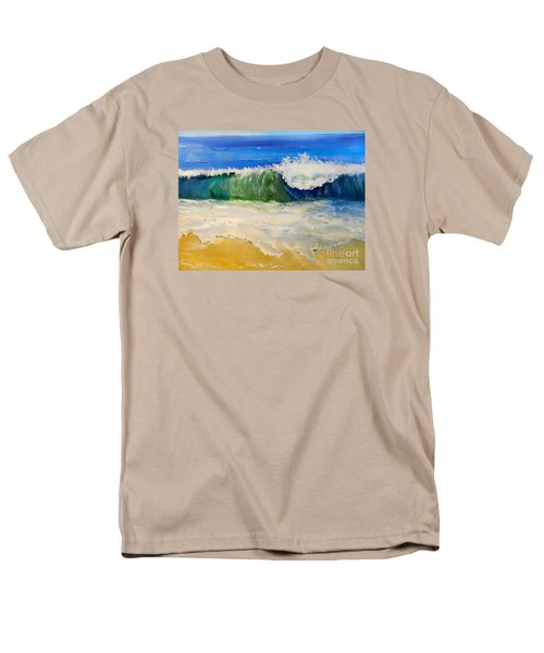 Watching The Wave As Come On The Beach Men's T-Shirt  (Regular Fit) by Pamela  Meredith