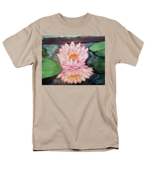 Water Lily Men's T-Shirt  (Regular Fit) by Renee Michelle Wenker