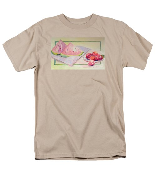 Men's T-Shirt  (Regular Fit) featuring the painting Watermelon by Marilyn Zalatan