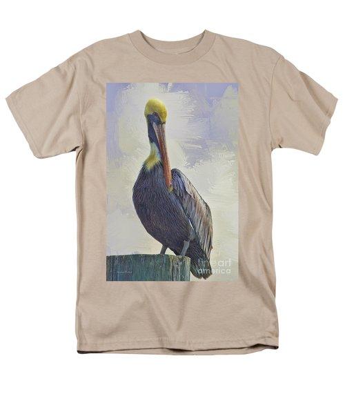 Waterway Pelican Men's T-Shirt  (Regular Fit) by Deborah Benoit