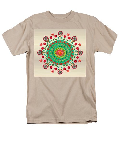 Wayuu Art Garden Men's T-Shirt  (Regular Fit) by Gabriela Delgado
