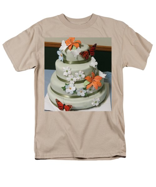 Wedding Cake For April Men's T-Shirt  (Regular Fit) by Fortunate Findings Shirley Dickerson