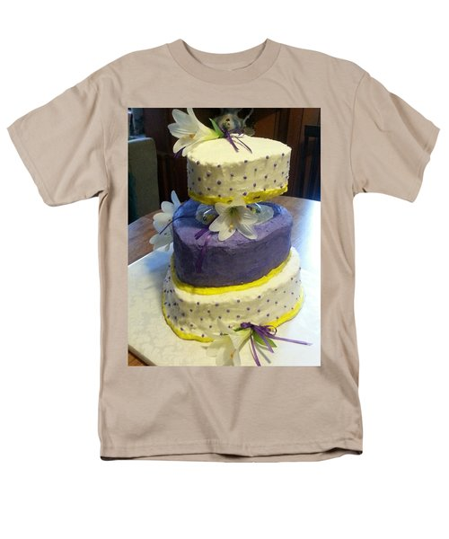 Wedding Cake For May Men's T-Shirt  (Regular Fit) by Fortunate Findings Shirley Dickerson