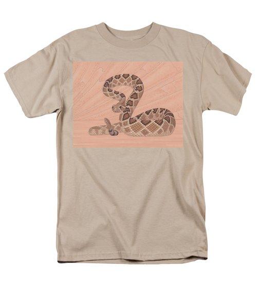 Western Diamondback Rattlesnake Men's T-Shirt  (Regular Fit) by Nathan Marcy