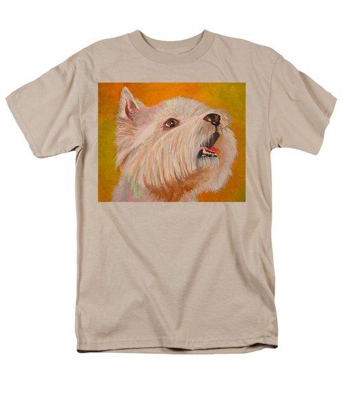 Westie Portrait Men's T-Shirt  (Regular Fit) by Tracey Harrington-Simpson