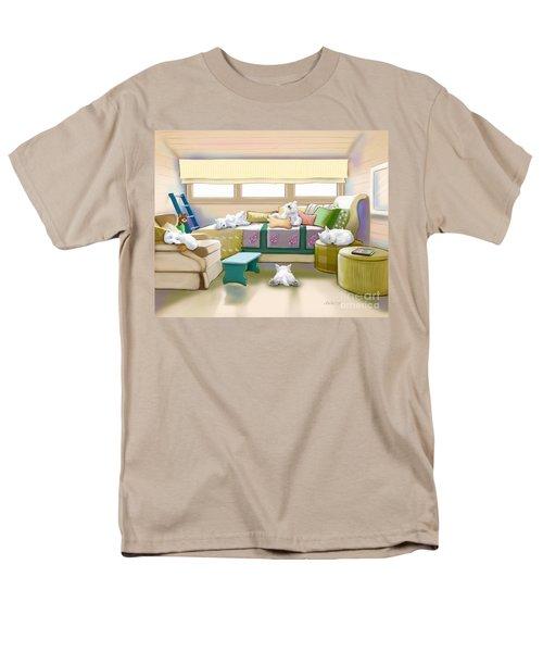 Westie Retreat  Men's T-Shirt  (Regular Fit) by Catia Cho