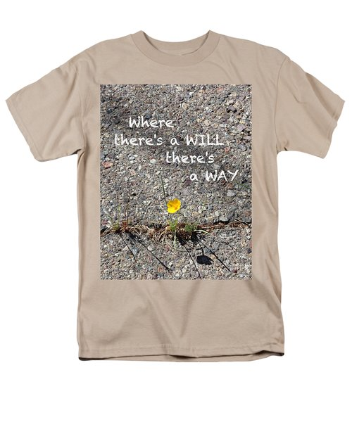 Where There's A Will There's A Way Men's T-Shirt  (Regular Fit) by Kume Bryant