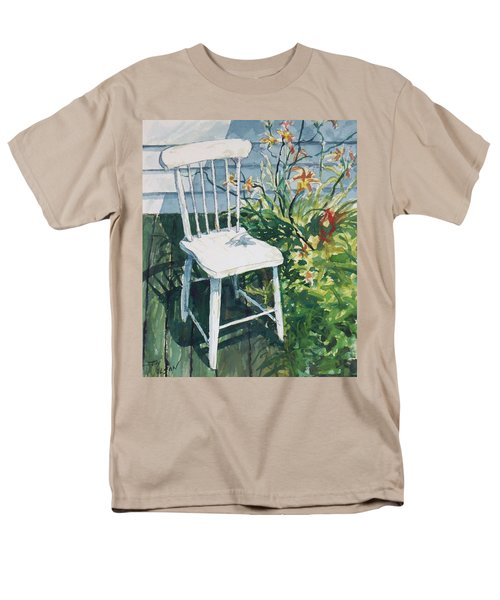 White Chair And Day Lilies Men's T-Shirt  (Regular Fit) by Joy Nichols