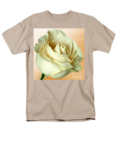 Men's T-Shirt  (Regular Fit) featuring the photograph White Rose On Sepia by Nina Silver