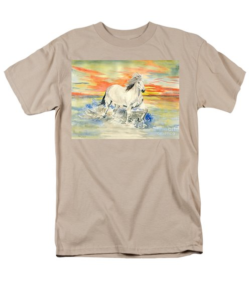 Wild White Horse Men's T-Shirt  (Regular Fit) by Melly Terpening