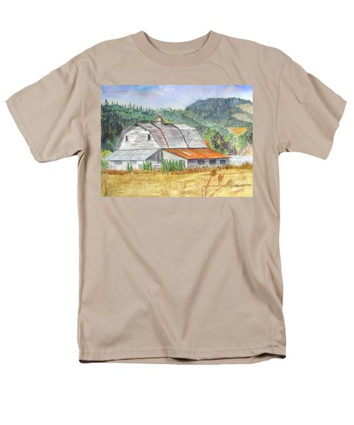 Men's T-Shirt  (Regular Fit) featuring the painting Willamette Valley Barn by Carol Flagg