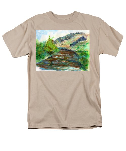 Willow Creek In Spring Men's T-Shirt  (Regular Fit) by C Sitton