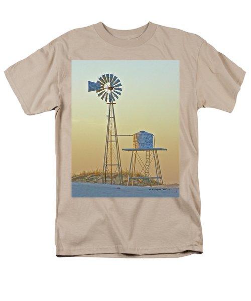 Windmill At Dawn 2011 Men's T-Shirt  (Regular Fit) by Allen Sheffield
