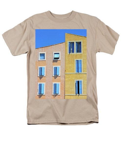 Men's T-Shirt  (Regular Fit) featuring the photograph Windows Martigues Provence France by Dave Mills