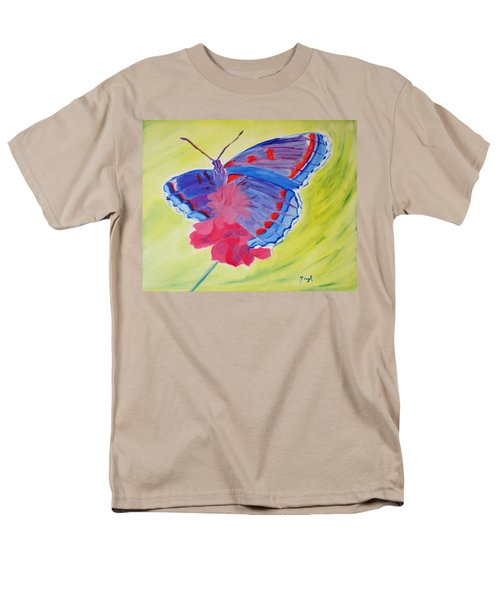 Men's T-Shirt  (Regular Fit) featuring the painting Winged Delight by Meryl Goudey