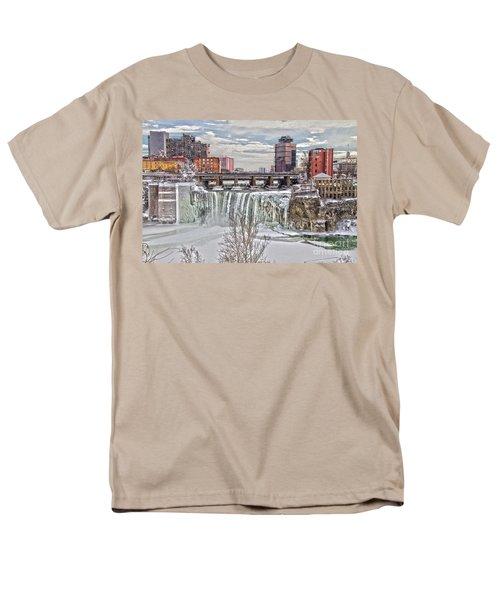 Winter At High Falls Men's T-Shirt  (Regular Fit) by William Norton