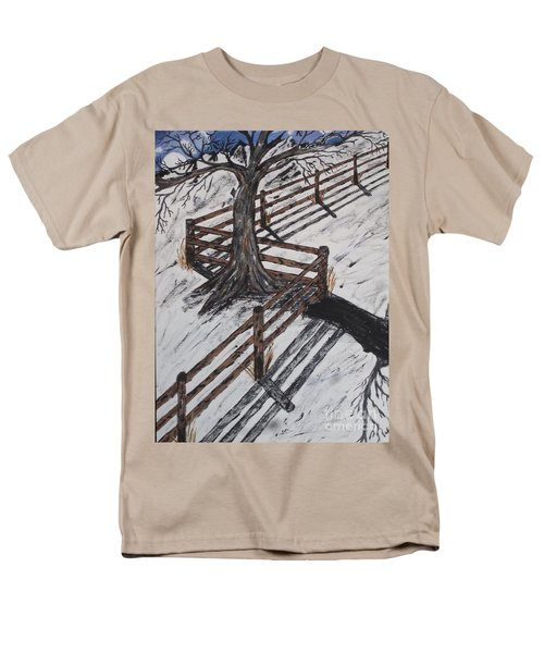 Winter Moon Shadow Men's T-Shirt  (Regular Fit) by Jeffrey Koss