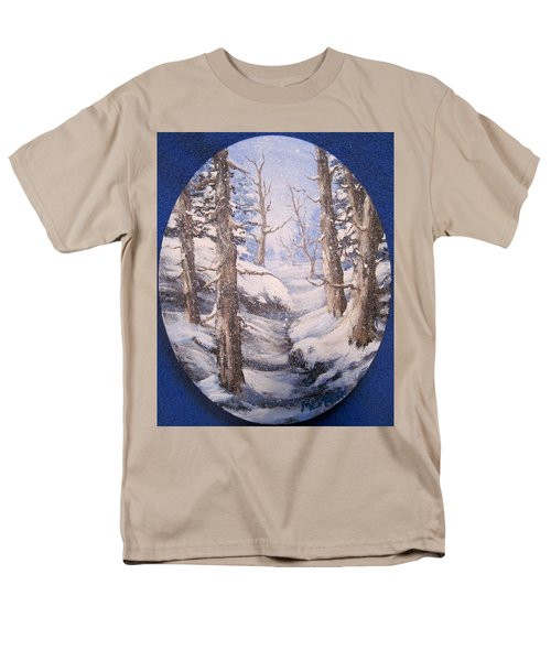 Men's T-Shirt  (Regular Fit) featuring the painting Winter Snow by Megan Walsh