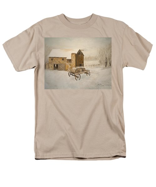 Men's T-Shirt  (Regular Fit) featuring the painting Winter Wine by Alan Lakin