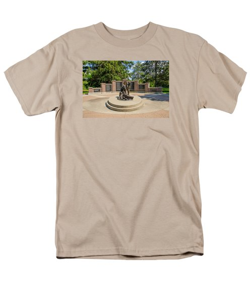 Men's T-Shirt  (Regular Fit) featuring the photograph Wisconsin State Firefighters Memorial 1 by Susan  McMenamin