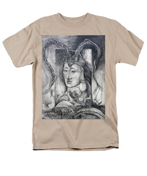 Men's T-Shirt  (Regular Fit) featuring the drawing Wizard Of Bogomil's Island - The Fomorii Conjurer by Otto Rapp