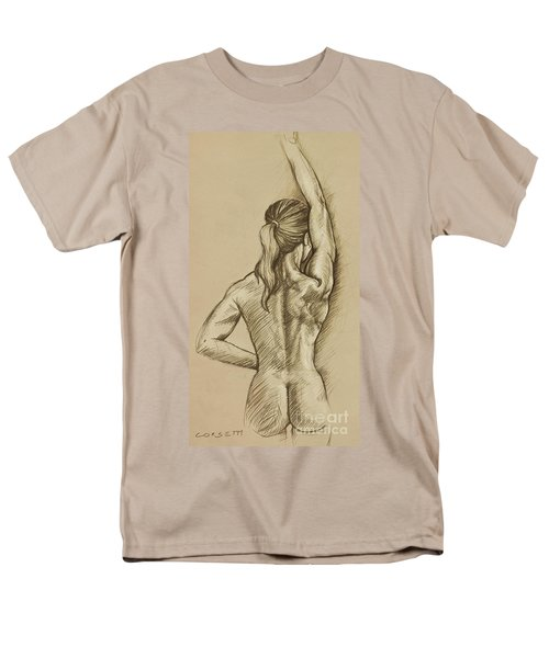 Men's T-Shirt  (Regular Fit) featuring the drawing Woman Sketch by Rob Corsetti