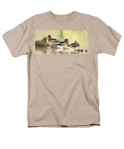 Wood-ducks Panorama Men's T-Shirt  (Regular Fit) by Mircea Costina Photography