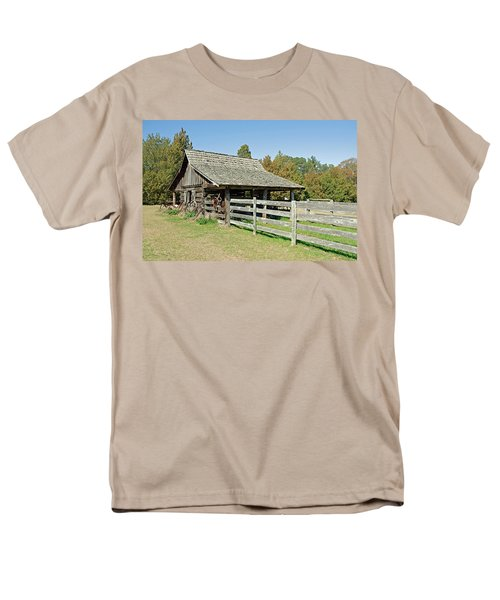 Men's T-Shirt  (Regular Fit) featuring the photograph Wooden Barn by Charles Beeler