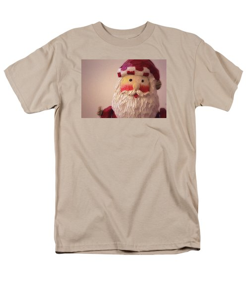 Men's T-Shirt  (Regular Fit) featuring the photograph Wooden Toy Santa by Nadalyn Larsen