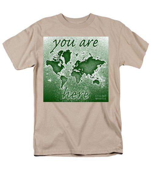 World Map You Are Here Novo In Green Men's T-Shirt  (Regular Fit) by Eleven Corners