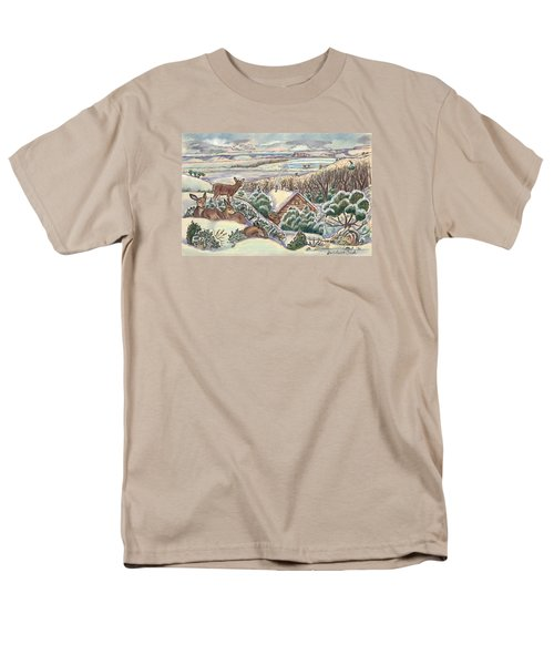 Wyoming Christmas Men's T-Shirt  (Regular Fit) by Dawn Senior-Trask