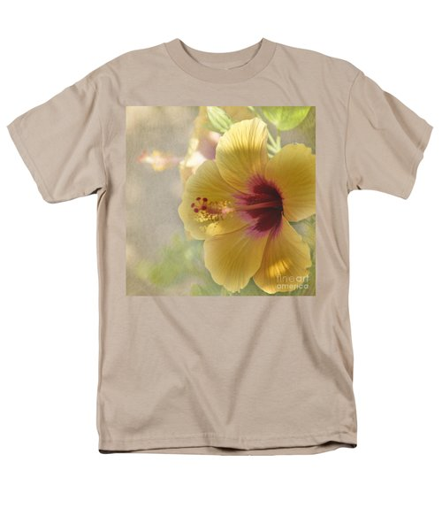 Men's T-Shirt  (Regular Fit) featuring the photograph Yellow Hibiscus by Peggy Hughes