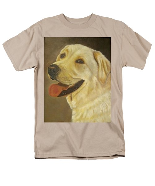 Men's T-Shirt  (Regular Fit) featuring the painting Yellow Lab by Sharon Schultz