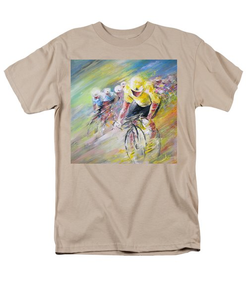 Yellow Triumph Men's T-Shirt  (Regular Fit) by Miki De Goodaboom