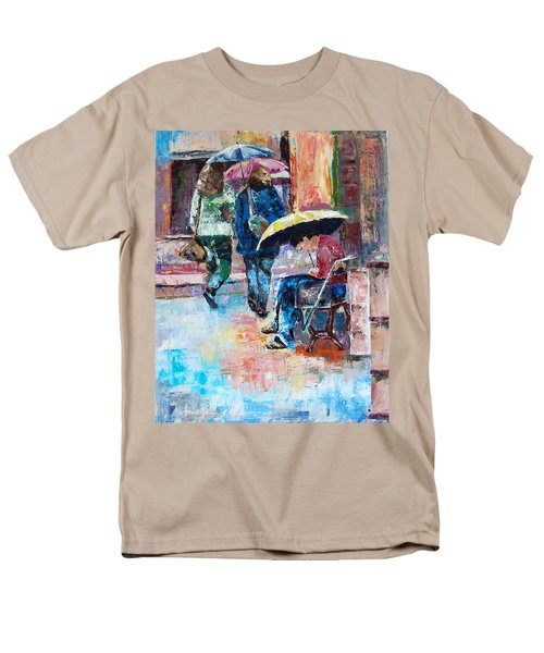 Yellow Umbrella Men's T-Shirt  (Regular Fit) by Janet Garcia