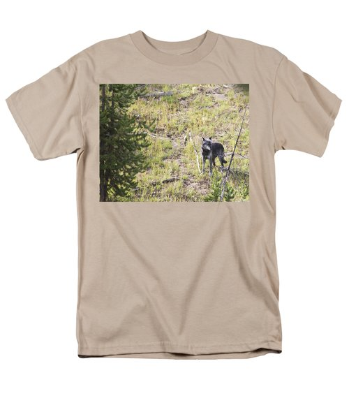 Men's T-Shirt  (Regular Fit) featuring the photograph Yellowstone Wolf by Belinda Greb