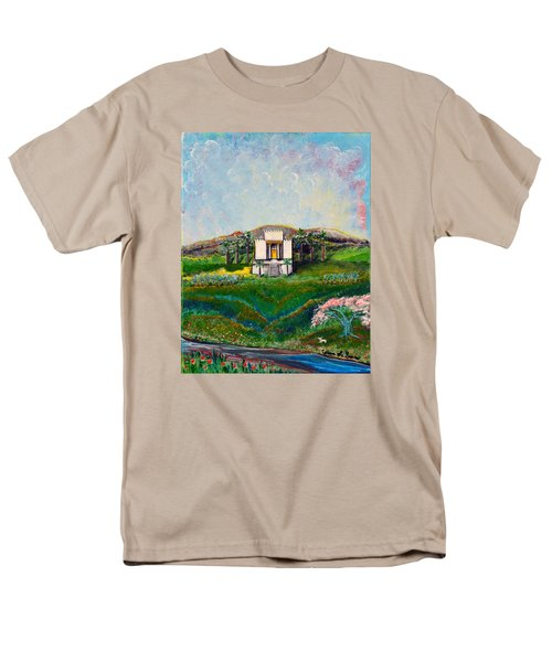 Men's T-Shirt  (Regular Fit) featuring the painting You Are The Temple Of God by Cassie Sears