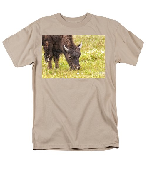 Men's T-Shirt  (Regular Fit) featuring the photograph Young Bison by Belinda Greb